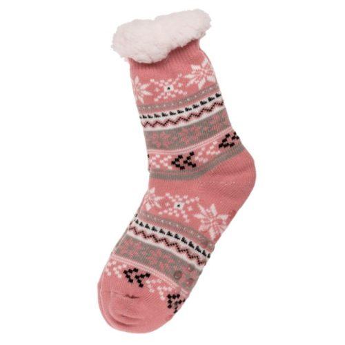 Pihe-puha zokni Ice flower & Stripes rózsaszín