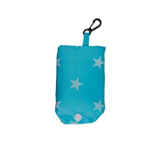 Újrahasználható bevásárlótáska kék csillagokkal