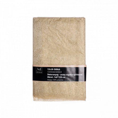 Dekorációs textil Dots arany 140*220cm