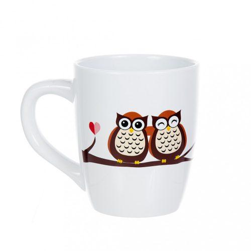 Óriás bögre Owl love
