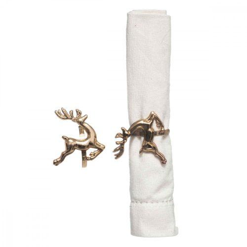 2db-os szalvétagyűrű szett Deer arany