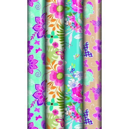 Csomagolópapír Floral 3m