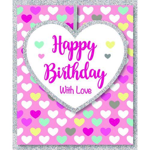 Kísérőkártya Happy Birthday with love