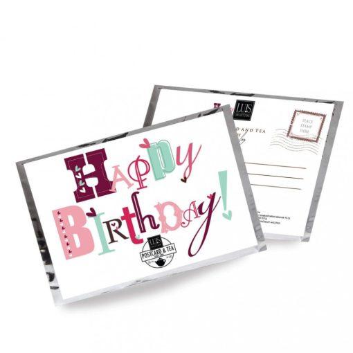 Teaképeslap - Happy Birthday