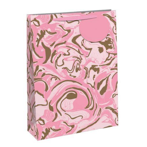 Ajándéktáska Pink marble 26,5*33*14cm