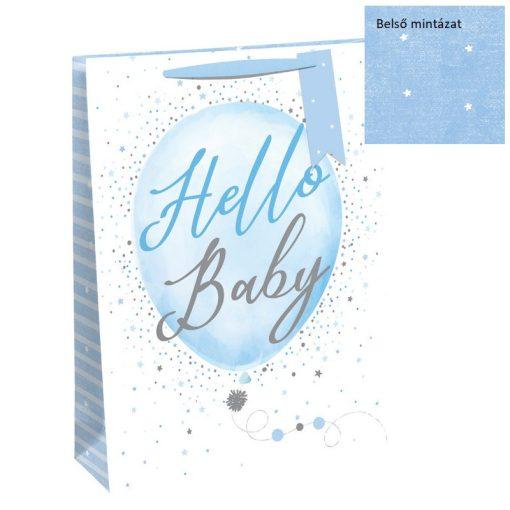 Ajándéktáska Hello Baby boy 21,5*25,3*10cm