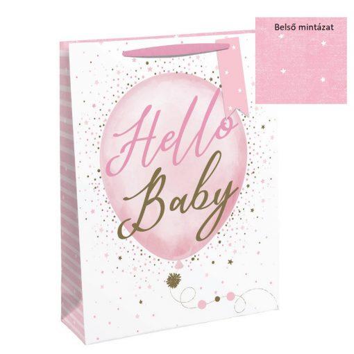 Ajándéktáska Hello Baby girl 21,5*25,3*10cm