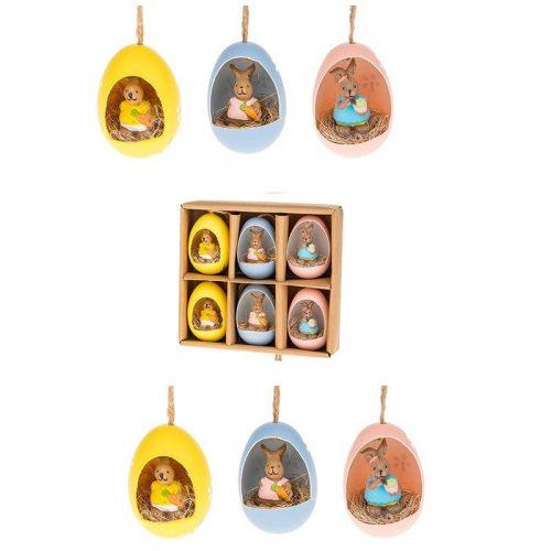 6db-os csibe húsvéti dekorációs tojásszett