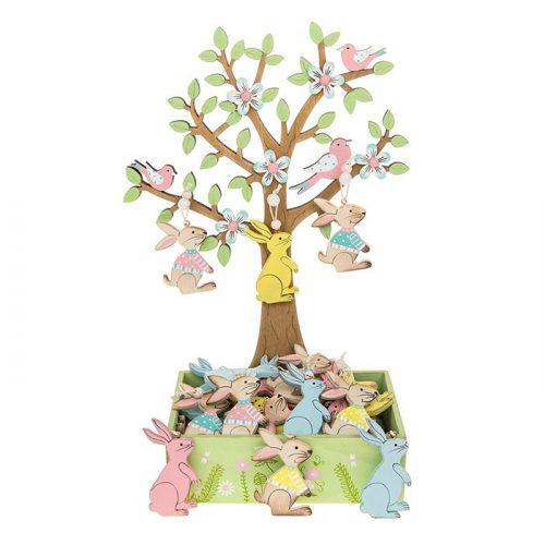 Lézervágott húsvéti nyuszi dekoráció