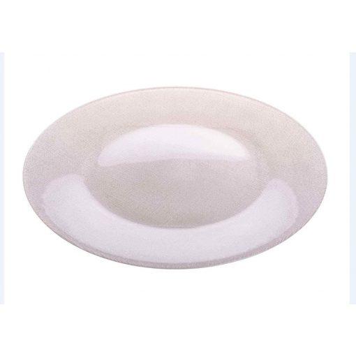SIS kínáló tányér fehér glitter