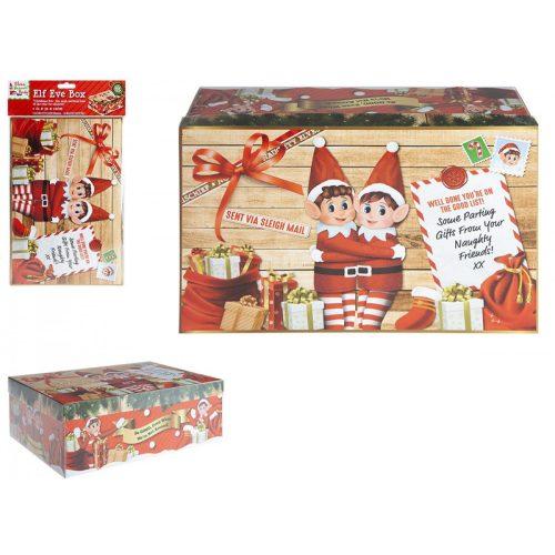 Elf karácsonyi doboz 21*32*11cm