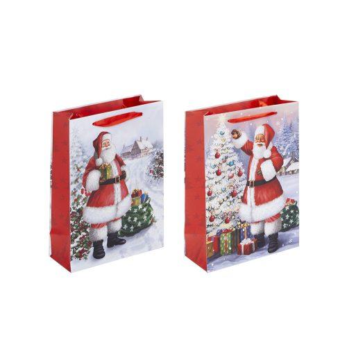 Ajándéktáska Classic Santa kicsi