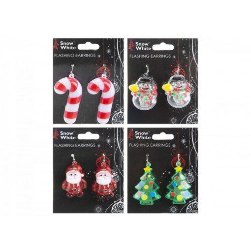 Villogó karácsonyi fülbevaló pár