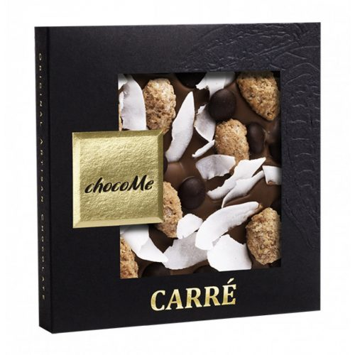 Tejcsokoládé fahéjas, cukros mandula-kókusz 50g