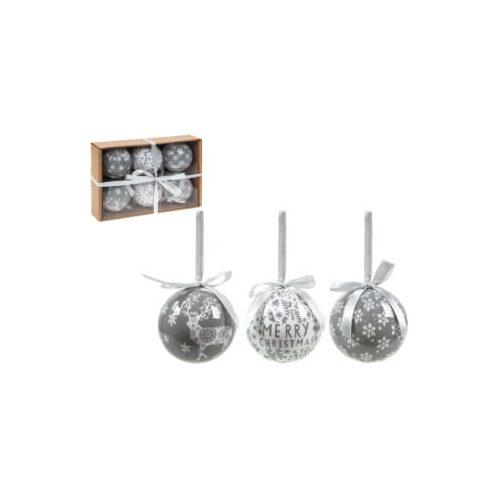 6db-os 7,5cm-es dísz fehér-ezüst