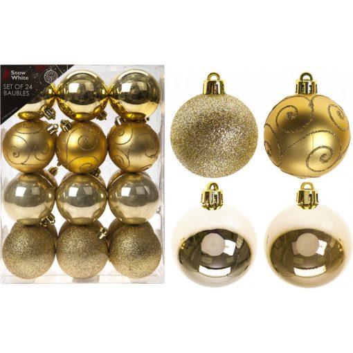 24db 6cm-es függődísz arany