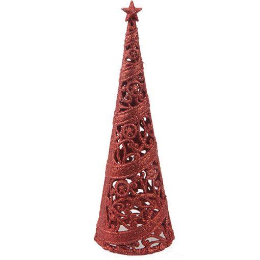 24cm-es dekorációs fa piros