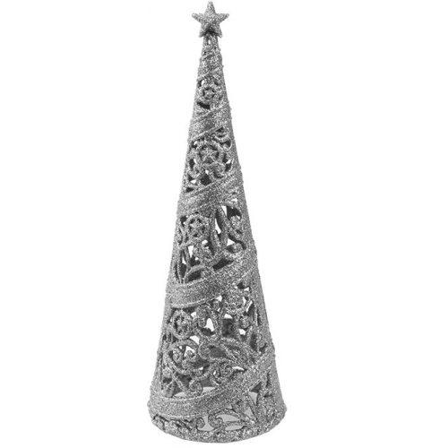 24cm-es dekorációs fa ezüst