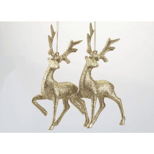 2db-os szarvas karácsonyfadísz arany