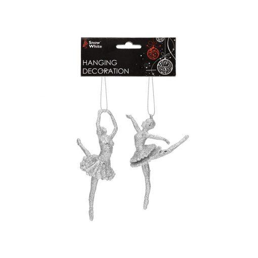 2db-os balerina dísz ezüst