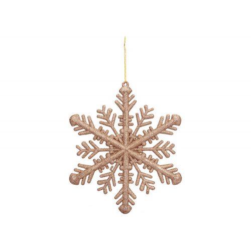 Nagy méretű hópihe dekoráció rose gold