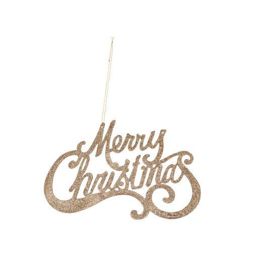 Akasztós dekoráció Merry Christmas rose gold
