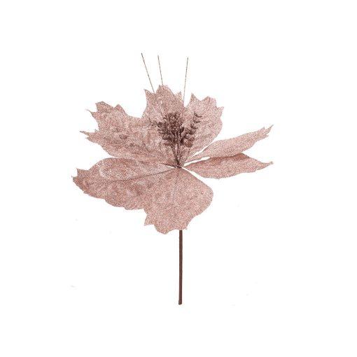 28cm rose gold glitteres virágdekoráció