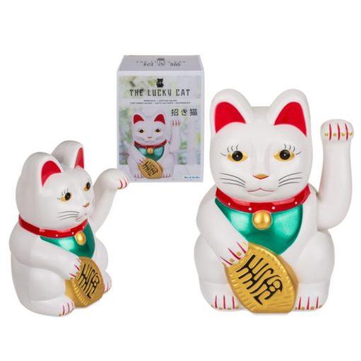 Integető cica fehér