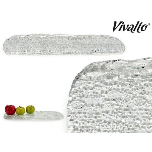 Üveg kínáló tányér 46cm