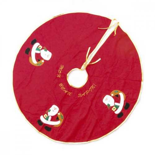 Karácsonyfatalp takaró piros
