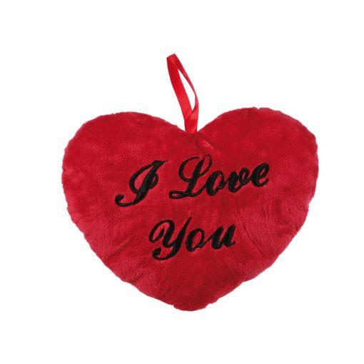 Plüss szív I love you 26cm