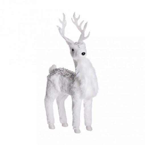 Dekorációs szarvas fehér 36cm