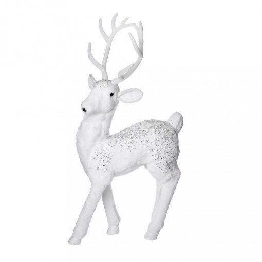 Dekorációs szarvas fehér 100cm