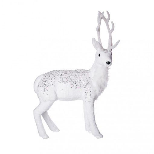 Dekorációs szarvas fehér 70cm