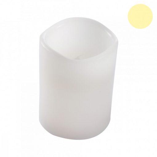 Fehér LED gyertya 7,5*12,5cm