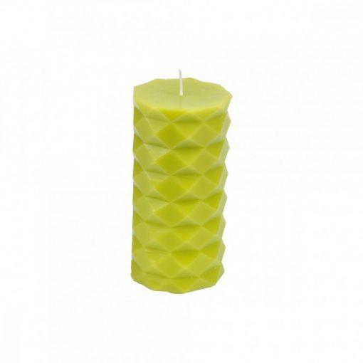 Gyertya Tropical zöld 7*13,8cm