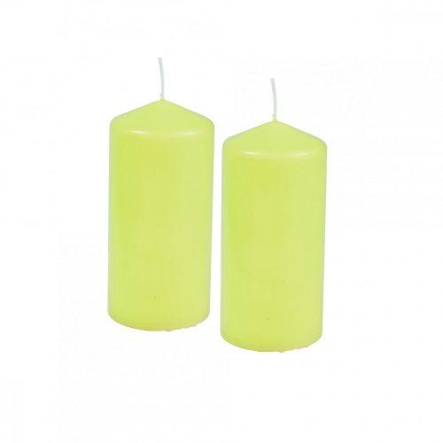 2db-os gyertya szett zöld 5*10cm