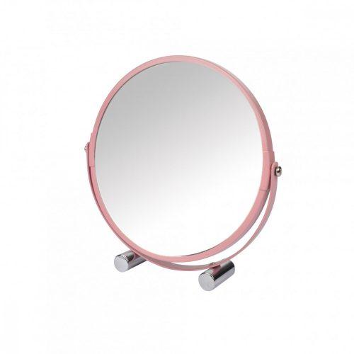 Duplaoldalú tükör rózsaszín