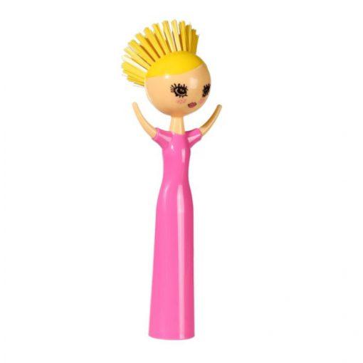 Mosogató kefe Funky Lady pink