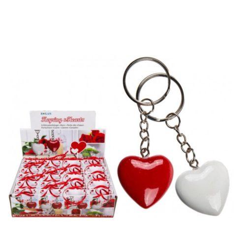 Kulcstartó Heart fehér