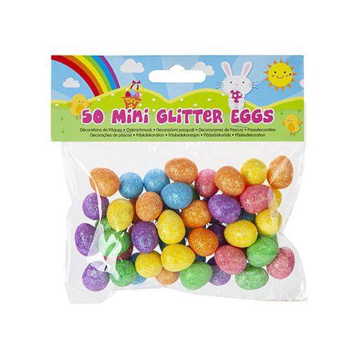 50db-os glitter dekorációs minitojás csomag