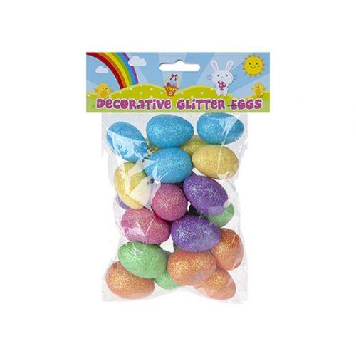 16db-os glitter dekorációs tojás csomag