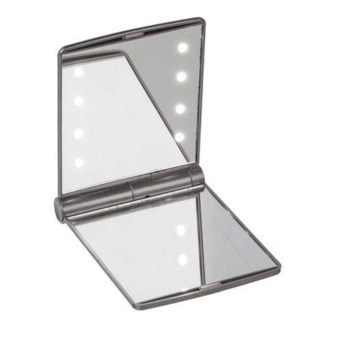 Összehajtható kozmetikai tükör 8LED-del