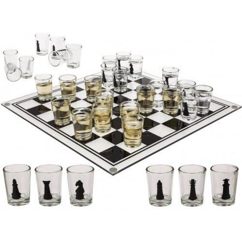 Üveg sakk készlet