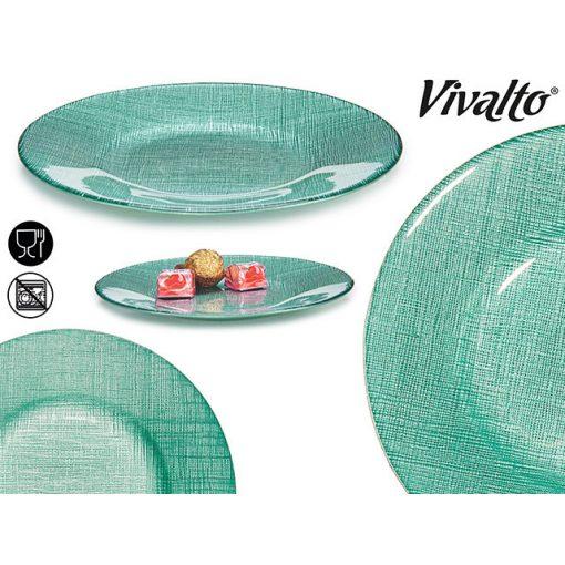 Üveg tányér türkiz 21cm