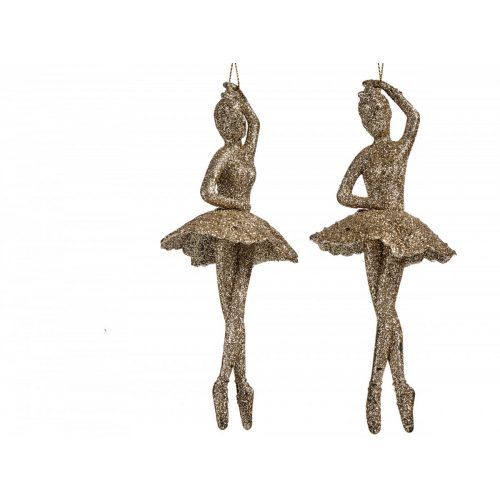 Karácsonyfadísz balerina arany
