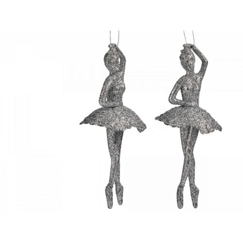 Karácsonyfadísz balerina ezüst