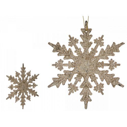Karácsonyfadísz hópihe arany