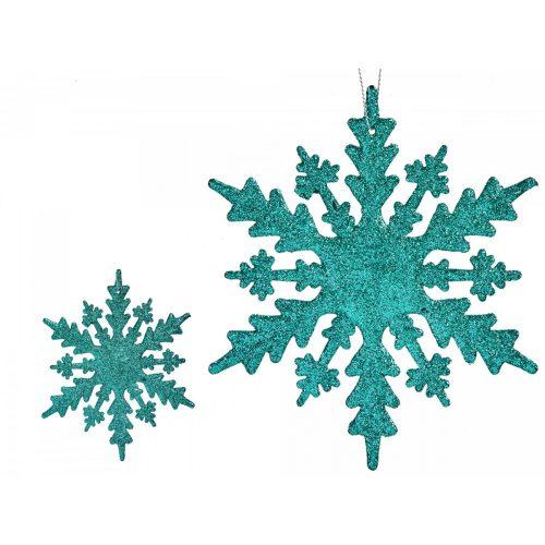 Karácsonyfadísz hópihe türkiz