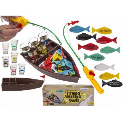 Horgászó italozós játék